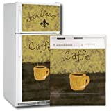 Appliance Art Caffe Refrigerator and Dishwasher Combo Magnet (T&B) Cover ~ Appliance Art