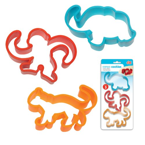 DCI 47688 Congo Cookie Cutters, Red/Blue/Orange, Set of 3