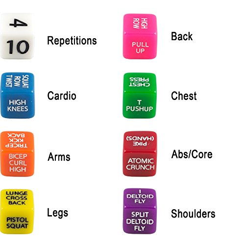 Workout Games: Suspension Exercise Dice By Stack 52. For TRX, WOSS, And
