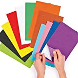 Self-Adhesive Felt Sheets 18 Assorted 22cm x 15cm for Children's Collage & Craft Projects (Pack of 18)