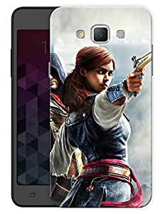 """Humor Gang Girl With Gun - Game Life Printed Designer Mobile Back Cover For """"Samsung Galaxy E7"""" (3D, Matte, Premium Quality Snap On Case)"""