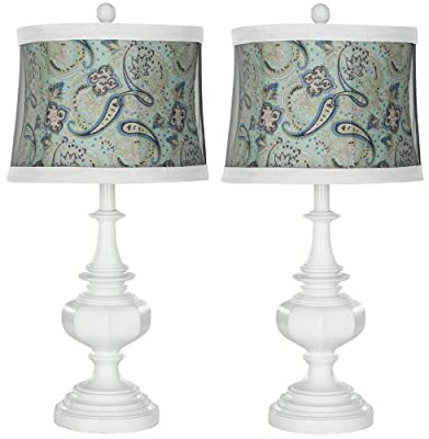 Safavieh Lighting Collection Ella White Urn 24.5-inch Table Lamp (Set of 2)