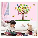 Oren Empower Colorful Decoraive Tree Wall Sticker For Home Decoration