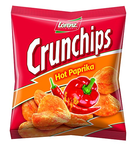 Lorenz Snack World Crunchips Hot Paprika, 20er Pack (20 x 25 g)