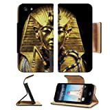 Gold Egypt Pharaoh Coffin Sarcophagus Apple iPhone 5 / 5S Flip Cover Case with Card Holder Customized Made to Order Support Ready Premium Deluxe Pu Leather 5 3/16 inch (132mm) x 2 11/16 inch (68mm) x 9/16 inch (14mm) Liil iPhone 5 Professional Cases Touch Accessories Graphic Covers Designed Model Folio Sleeve HD Template Designed Wallpaper Photo Jacket Wifi 16gb 32gb 64gb Luxury Protector Wireless Cellphone Cell Phone