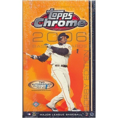 2006 Topps Chrome Baseball Card Unopened Hobby Box