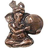 Divya Mantra Musical Ganesha Wall Hanging In Copper Finish