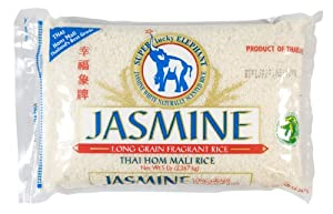 Super Lucky Elephant Jasmine Long Grain Fragrant Rice, 5 Pound Bags (Pack of 2)