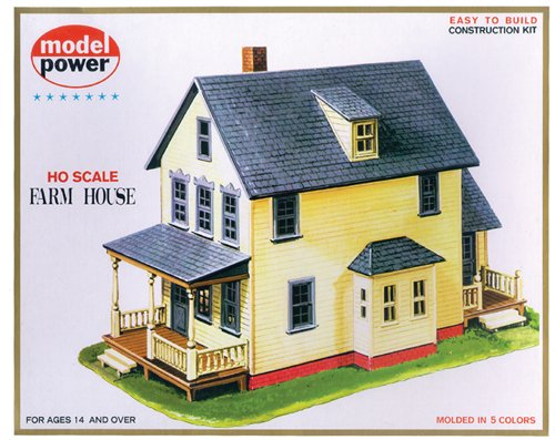 Model Power HO Scale Building Kit - Farm House