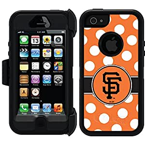 Coveroo Defender Series Black Cell Phone Case for iPhone 5/5s - Retail Packaging - Francisco Giants Polka Dots