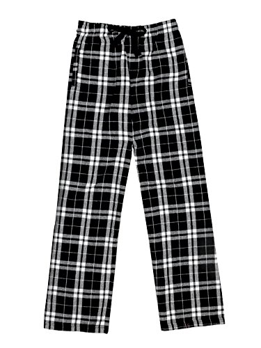 Ultra Soft Unisex Youth 100% Cotton Flannel Pants - Black/White, Medium (Black Bear Pajamas compare prices)