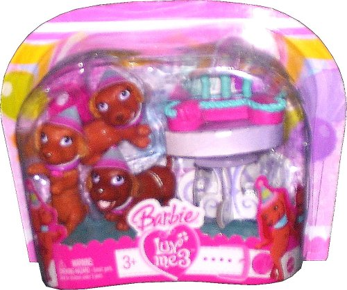 Barbie Luv Me3 ~ Birthday Pups - Buy Barbie Luv Me3 ~ Birthday Pups - Purchase Barbie Luv Me3 ~ Birthday Pups (Barbie, Toys & Games,Categories,Dolls,Playsets,Fashion Doll Playsets)