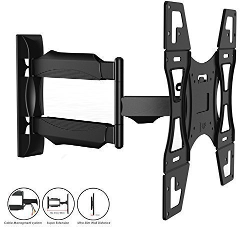 Invision TV Wall Mount Bracket with Tilt and Swivel 20 Inch Articulating Arm/Ultra Slim 1.8-Inch Wall Profile for Most 26 - 55 Inch LED/LCD/Plasma/4K/3D & Curved Screens (A2/HDTV-L) (Slim Profile Tv compare prices)