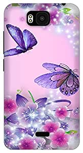 The Racoon Lean Fairies and Butterflies hard plastic printed back case / cover for Huawei Honor Bee