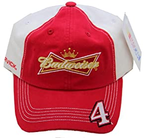 2014 Kevin Harvick #4 Budweiser Racing Cap Hat Adjustable by NASCAR