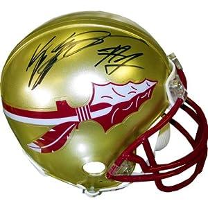 Kelvin Benjamin Autographed Florida State Seminoles Mini Helmet (JSA) - Autographed... by Sports+Memorabilia