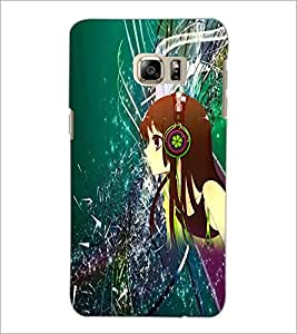 PrintDhaba Music Girl D-4387 Back Case Cover for SAMSUNG GALAXY NOTE 5 (Multi-Coloured)