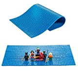 Lego Compatible Brick Building Base 15 X 10 Blue Silicone Mat Baseplate By Fun For Life