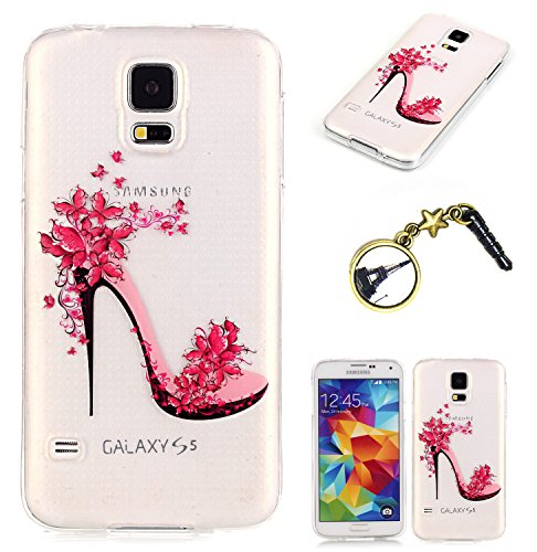 Étui en TPU Cuir pour (Samsung Galaxy S5 Neo / I9600) Housse Coque Pochette Portefeuille Cuir Coque Strass Case Etui Silicone Etui Coque Case