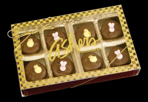 Asher's Easter Decorated Double Dipped Mints Gift Box (Gourmet,Asher's Chocolates,Gourmet Food,Chocolate,Dark Chocolate)