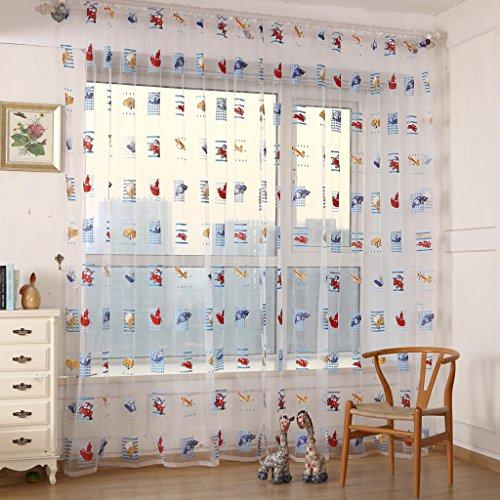2 st ck auto druck kinderzimmer vorhang garn f r. Black Bedroom Furniture Sets. Home Design Ideas