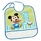 Mickey's 1st Birthday Baby Bib
