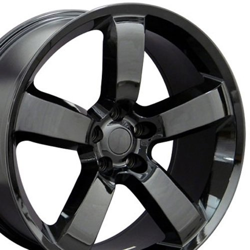 20x9 Wheel Fits Chrysler 300, Charger, Challenger - Charger SRT Style Black Rim (Rims For Dodge Charger 2008 compare prices)