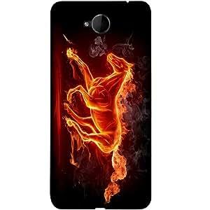 Casotec Fire Horse Design 3D Printed Back Case Cover for Microsoft Lumia 650