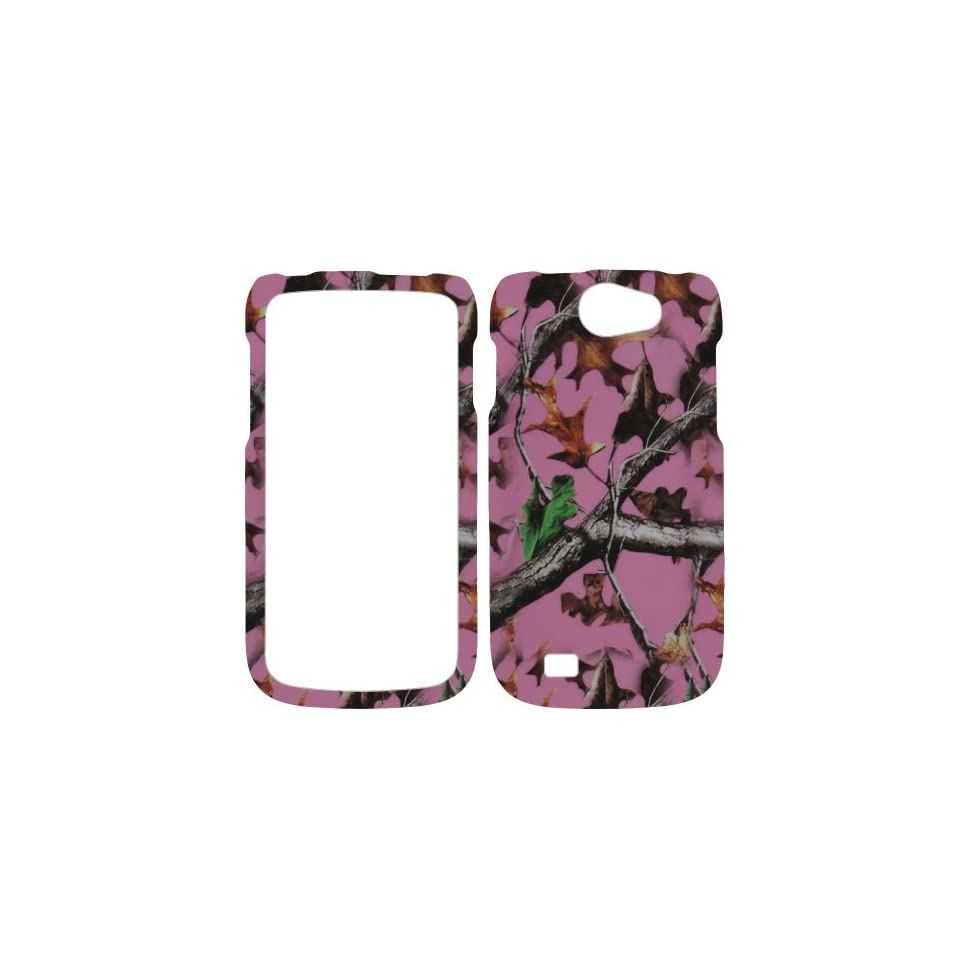 Samsung Exhibit II li 2 4G Galaxy W 4G SGH T679 T679M i8150 T MOBILE Phone CASE COVER SNAP ON HARD RUBBERIZED SNAP ON FACEPLATE PROTECTOR NEW CAMO HUNTER PINK ADVANTAGE TREE Cell Phones & Accessories