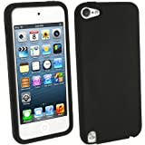 IGadgitz Black Silicone Skin Case Cover for Apple iPod Touch 5th Generation 5G 32GB 64GB + Screen Protector