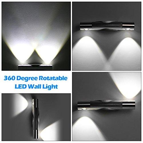 Trois Couleur® Lot de 2pcs 2W LED Lampe Applique murale pour décoration maison chambre appartement - Lumière Blanc