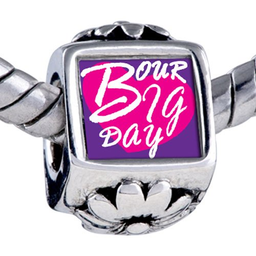 Pugster Bead Our Big Day Heart Photo Beads Fits Pandora Bracelet