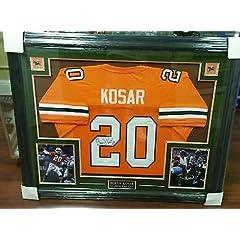 Bernie Kosar Signed University Miami Hurricanes Football Jersey Framed JSA COA