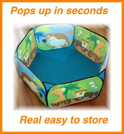 "36"" X 36"" Pop-Up Play-Pit With-Zipper Tote Bag- For Easy Storage-A Great Size For Ages 3 To 5 (Or Younger With Adult Present, Great Buy And Very Durable."
