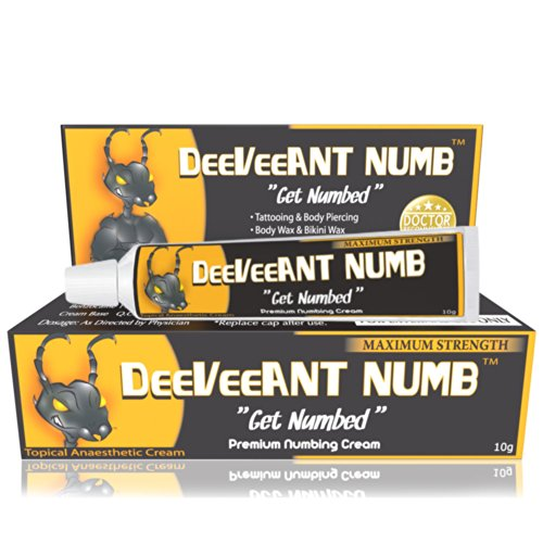 Best Buy! Numbing Cream Anesthetic - Strong Fast Acting DEEVEEANT NUMB® - 1x10g - Lidocaine 5% Topi...