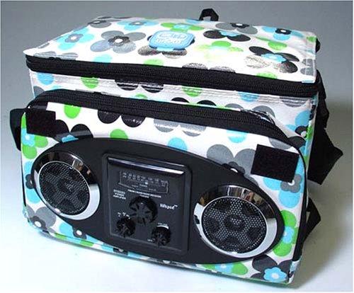 ビートジェネレーションバッグ AM・FMラジオ付きポータブルスピーカー テクノフラワー D-Technoflower