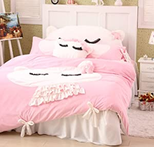 Amazon.com - DIAIDI Home Textile, Cute Cat Bedding Set, Girls ...
