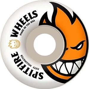Buy Spitfire Bighead Skateboard Wheel, White Orange, 50mm by Spitfire