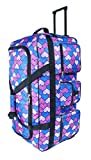New XL Light Weight Wheeled Trolley Holdall Suitcase Luggage Holiday Bag 30