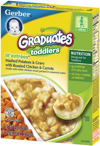 Gerber Graduates Lil' Entrees, Mashed Potatoes & Gravy with Roasted Chicken, 5.3-Ounce Boxes (Pack of 12)