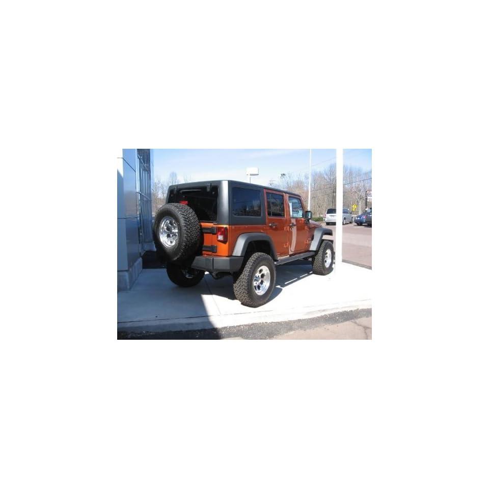 Jeep Wrangler Black Aluminum Tubular Side Steps 4 door