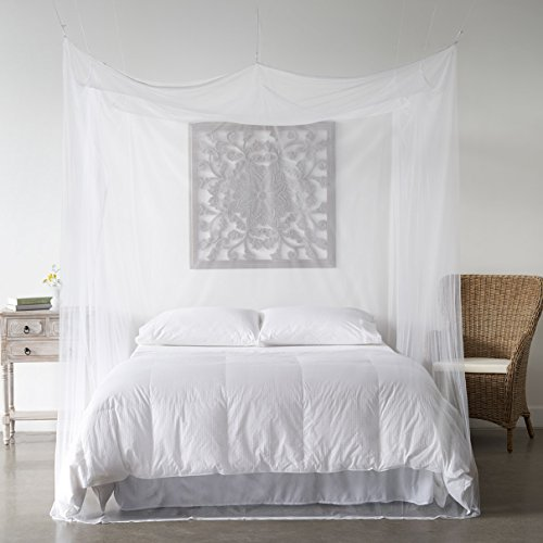 Mosquito Net Bed Canopy Bug Screen Repellant Rectangle Curtains For Twin Full Queen King