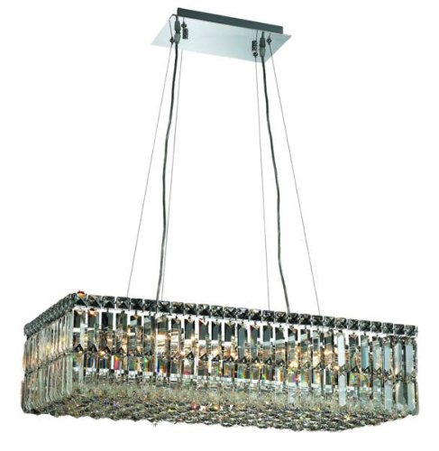 Elegant Lighting 2034D28C/Rc Maxim 7.5-Inch High 16-Light Chandelier, Chrome Finish With Crystal (Clear) Royal Cut Rc Crystal front-814088