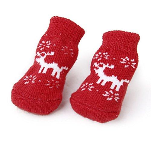 VORCOOL 4PCS Natale renna stile cane cucciolo