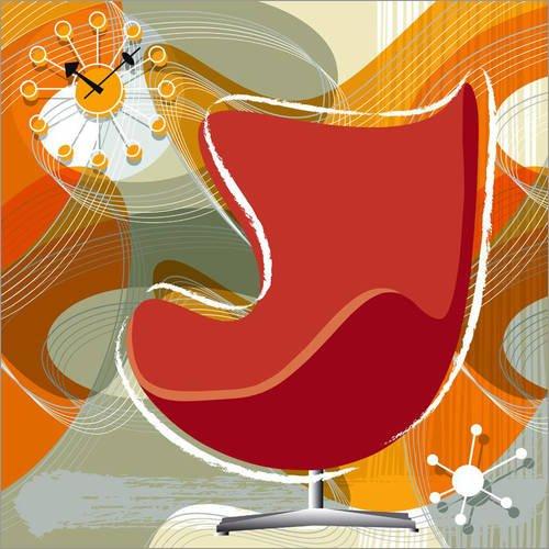 Alu Dibond 100 x 100 cm: egg chair von Thomas Marutschke