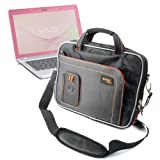 Black Rugged Laptop & Accessory Bag With Shoulder Strap For Sony Vaio Y Series & Vaio VPC-Z21, By DURAGADGET