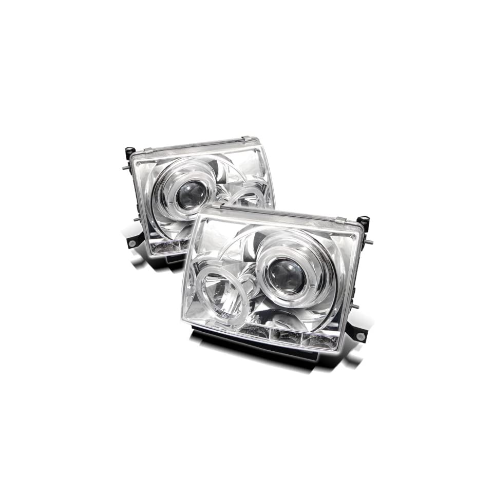 97 00 TOYOTA TACOMA PROJECTOR HEADLIGHTS HALO   CHROME