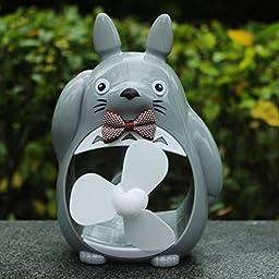 Totoro Fan Desktop Decoration Desk Ornaments Portable Mini Cartoon Small Fan Large Wind Office (3)
