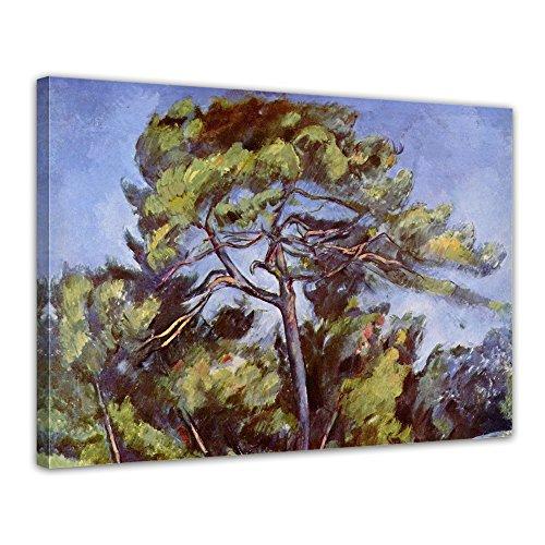 """Bilderdepot24 Leinwandbild Paul Cézanne - Alte Meister """"Die grosse Kiefer"""" 70x50cm - fertig gerahmt, direkt vom Hersteller"""