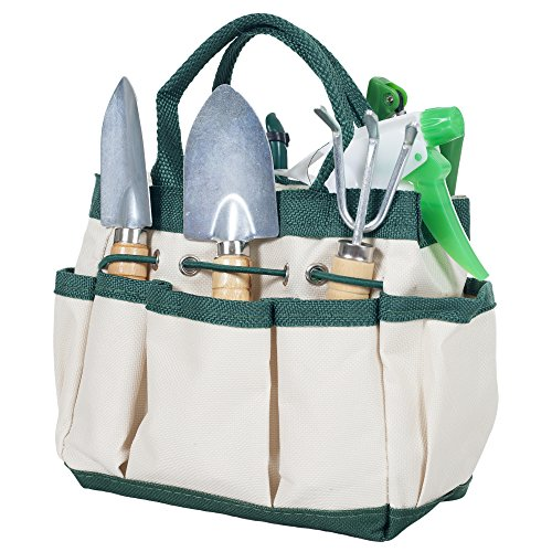 Pure-Garden-8-Piece-Garden-Tool-and-Tote-Set